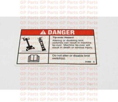 Genie 31060gt Decal- Tip Over Hazards4045s6065gs1530gs1532gs1930gs1932