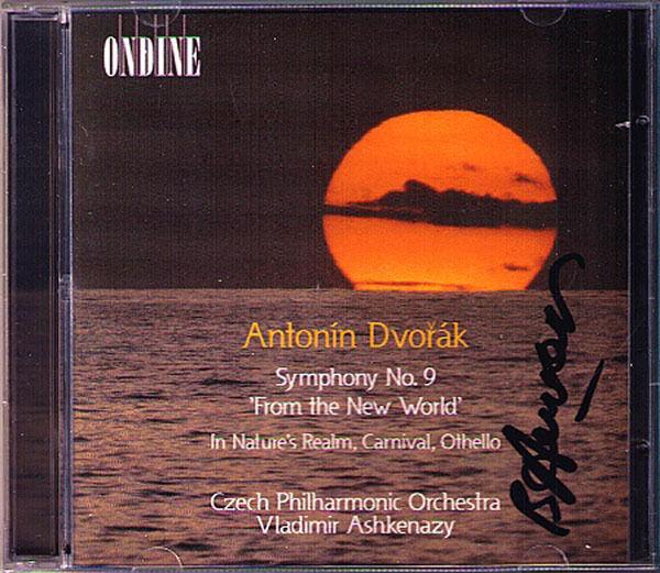 Vladimir ASHKENAZY Signed DVORAK Symphony 9 Carnival Othello 2CD From New World