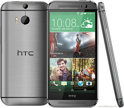 """Unlocked HTC One M8 Smartphone  5.0"""" 4G LTE GSM Android OS Quad Core  WIFI Gray"""
