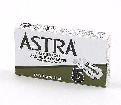 Astra Green Superior Platinum | Double Edge Razor Blades |  Premium Safety