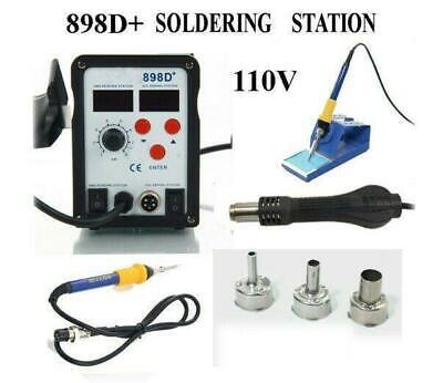 110v Smd Rework Soldering Station Iron Esd Welder Desoldering Gun Hot Us