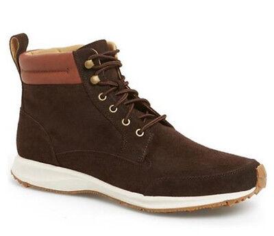 Cole Haan Men's Branson Lace Up Waterproof Suede Sneaker Boots Java Size (Cole Haan Lace Up Waterproof Suede Boots)