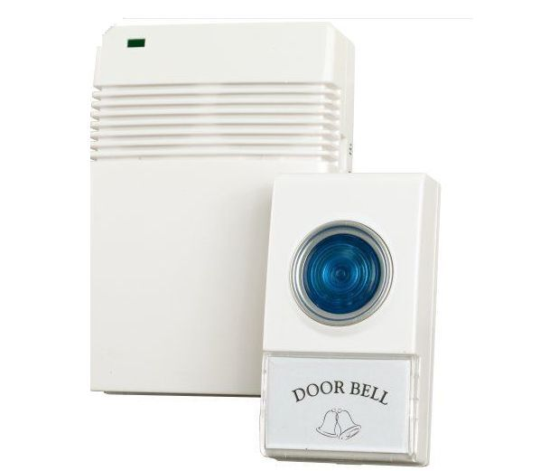 1 LED Wireless White Door Bell & Remote Control Set,Parent Family Home Xmas Gift