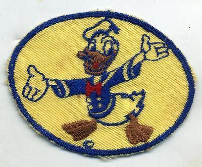 Original WWII Donald Duck Disney Patch Tan