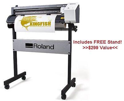 Roland Gs-24 Vinyl Cutter W Free Stand Cut Sign Vinyl Heat Transfer Vinyl