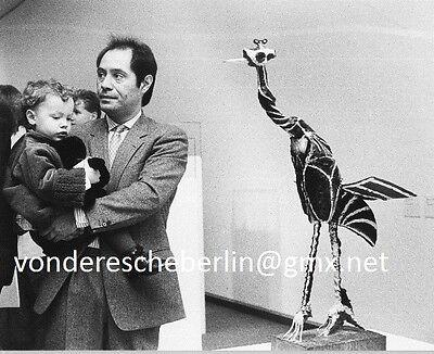 Werner ECKELT: 3 Generationen PICASSO - Claude mit Söhnchen & bemalter BRONZE´83
