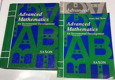 Saxon Advanced Mathematics (second Edition) Textbook, Homeschool Packet, Tests