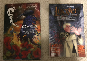 Sandman Overture Hardcover and Lucifer Graphic Novel Comic