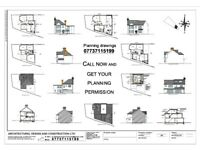 DRAWINGS FOR PLANNING, Architectural Services, Planning Permission, Building Control Regulation.