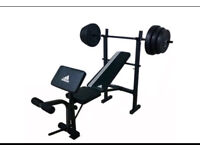 Adidas Essential bench with 45kg weights