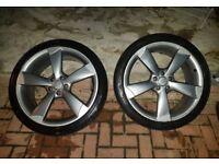 "Genuine Audi A6 20"" rotor alloys off 13 reg"