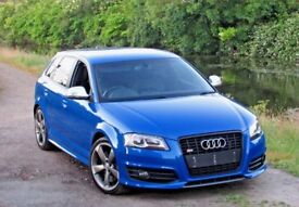 2009 AUDI S3 SPORTBACK S TRONIC SPRINT BLUE LOW MILES PX SWAP FULLY LOADED RS3 RS4