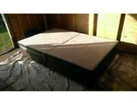 Double Bed base brown leather