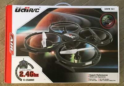 UDI RC Conception HD Camera 2.4GHz 4-CH 6-Axis Gyro RC Quadcopter Drone, U818A-1