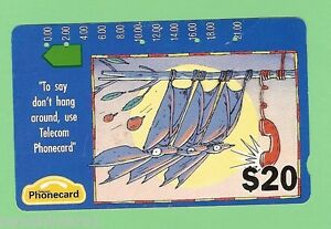 1992-ADVERTISING-CARTOON-20-AUSTRALIAN-PHONECARD-HANG-AROUND-THIRD-PRINTING