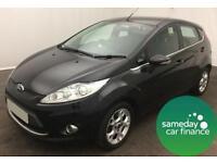 £141.75 PER MONTH BLACK 2012 FORD FIESTA 1.4 ZETEC 5 DOOR AUTOMATIC PETROL
