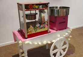 BOUNCY CASTLE CANDYFLOSS POPCORN MACHINE CHOCOLATE FOUNTAIN CANDY CART PHOTOBOOTH PARTY HIRE WEDDING
