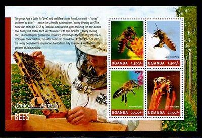 UGANDA Western Honey Bee (Apis mellifera) MNH sheetlet