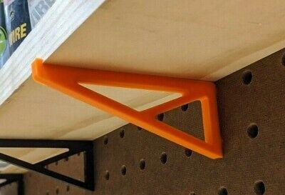 Pegboard Brackets For Mini Shelf - 4 Pack - For 14 Inch Hole Pegboard