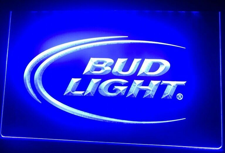 Bud Light budweiser LED Neon Bar Sign Home Light up movie Pu