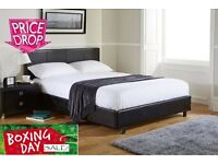 BOXING DAY SALE BRAND NEW DOUBLE BLACK BED