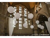 24 White round paper lanterns! Perfect for wedding!