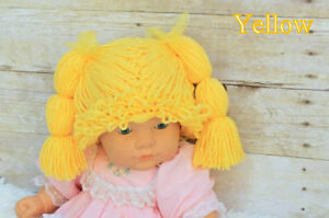 NEW Cabbage Patch Kid Wig - Yellow - 6-12 Months