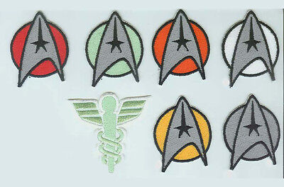 Star Trek the Motion Picture Starfleet Insignia Patch set cosplay costume
