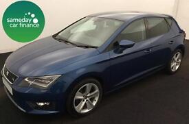ONLY £213.64 PER MONTH BLUE 2013 SEAT LEON 2.0 TDI FR 5 DOOR DIESEL MANUAL