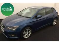 ONLY £213.73 PER MONTH BLUE 2013 SEAT LEON 2.0 TDI FR 5 DOOR DIESEL MANUAL