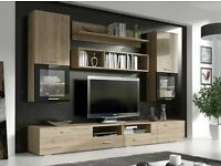 TV Wall unit FRANCO / FREE LED !!! / TV stand / Living room furniture / High Gloss