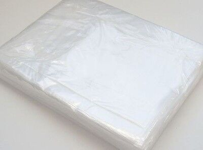 100 Clear Polythene Plastic Bags 12 x 15, Craft, Food Storage