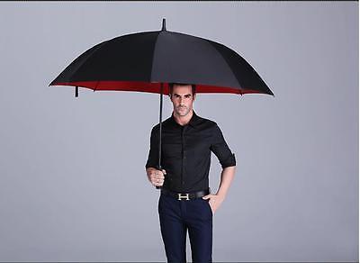 High Quality Business Men's Windproof Anti Sun Long Handle Automatic Umbrella