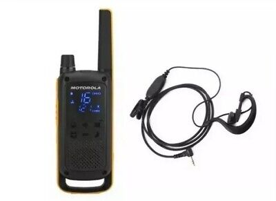 Motorola TLKR T82 Extreme Brand New 2Way Radio Walkie Talkie & Headset & Lanyard