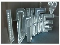Wedding Decoration for hire Love Sign Sweet Cart Past Box Ladder Stand
