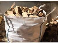 Tonne bag/builders bag of seasoned conifer logs