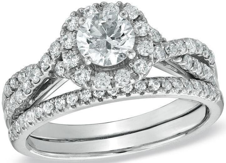 zales diamond frame twist bridal set - Zales Wedding Rings On Sale