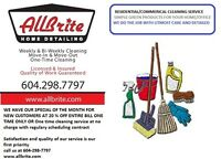 HOUSE CLEANING FULLY LICENSED AND INSURED LIMITED PROMOTION