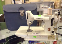 Vintage Singer Electric Sewing Machine with Case~