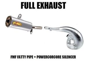 FULL FMF FATTY PIPE EXHAUST AND POWERCORE SILENCER 85 86 HONDA ATC250R ATC 250R