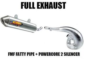 FULL-FMF-FATTY-PIPE-EXHAUST-AND-POWERCORE-2-SILENCER-03-04-HONDA-CR250-CR-250