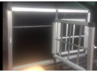 Dog cage for car boot or house, fits two small/medium dogs or one large dog, sturdy and safe kennel