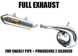FMF GNARLY FULL PIPE EXHAUST AND POWERCORE 2 SILENCER 97-99 HONDA CR250R CR250