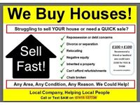 We buy houses and land!