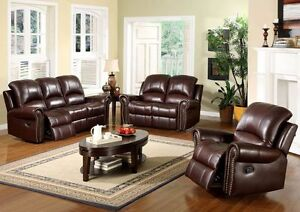 Wanted leather living room set