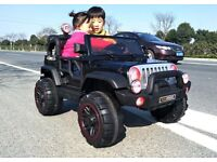 WRANGLER JEEP 2 SEATER KIDS RIDE ON ELECTRIC REMOTE CONTROLLER CAR BRAND NEW AGES 3 TO 5
