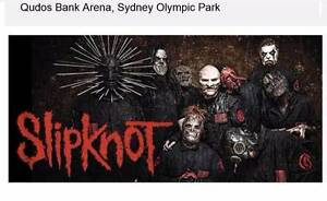 2 x Slipknot tickets Sydney Floor Section Boambee East Coffs Harbour City Preview