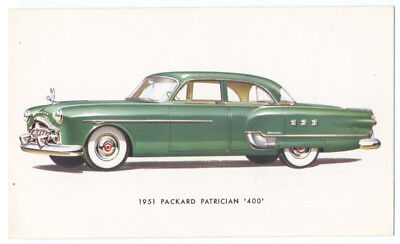 1951 PACKARD Patrician 400 - Original Ad Postcard, used for sale  Mendham