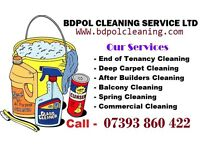Short notice Deep Clean - End of Tenancy - Move in or Out - Deep carpet Clean
