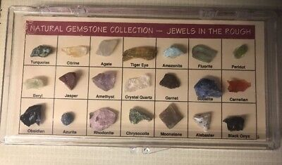 Natural Gemstone Collection - JEWELS IN THE ROUGH in case - Learning Rocks Home